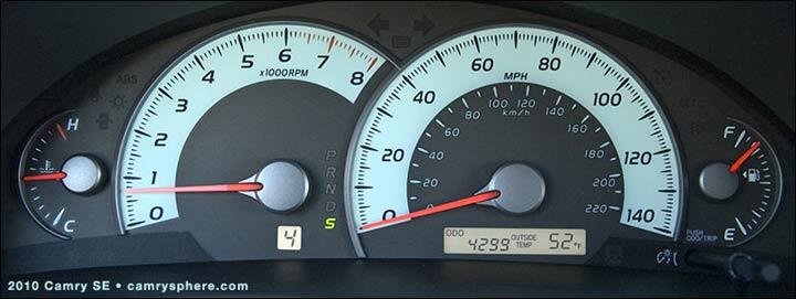 camry speedometer