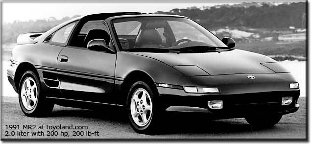 The 1986 and 1992 Toyota MR2  contemporary car reviews