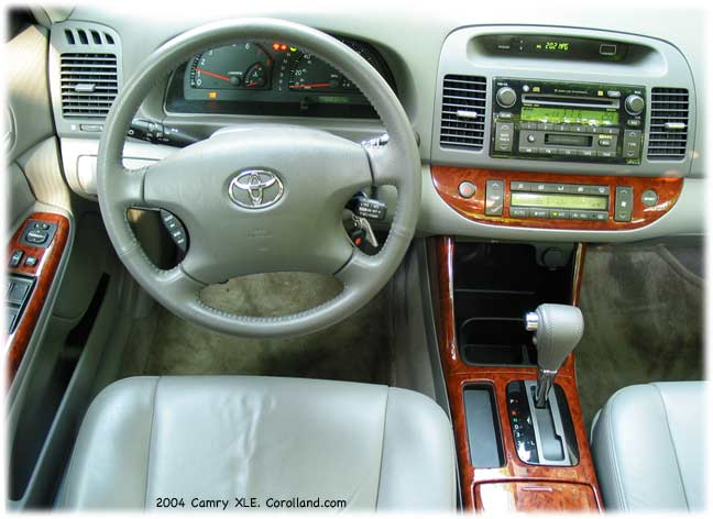 2004 Toyota Camry XLE interior - car reviews. The ride was well insulated,