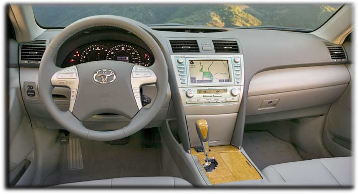 inside the Camry XLE