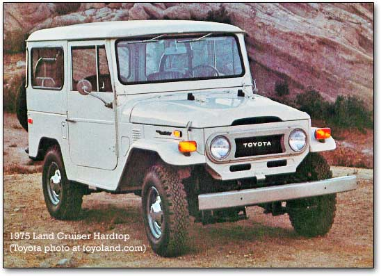 1974 land cruiser - toyota - front
