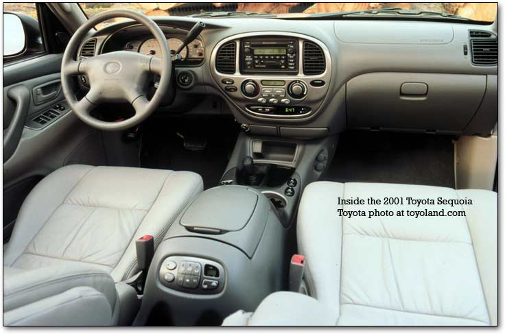 inside the toyota sequoia