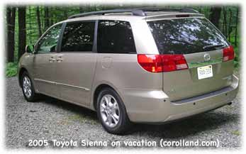 Toyota Sienna XLE Limited car reviews from Corolland