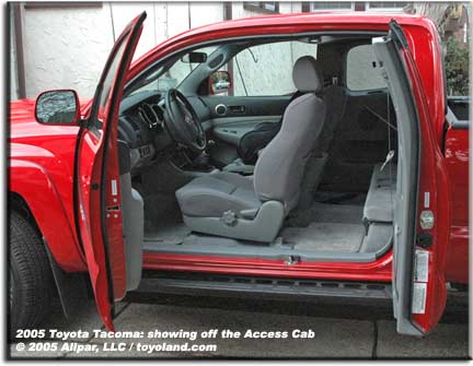 toyota tacoma Access Cab picture Getting into the Access Cab is fairly easy