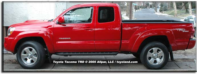 side view - 2005 Toyota Tacoma