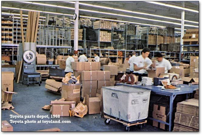 toyota parts depot, 1968