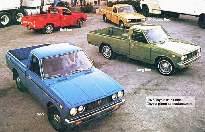 toyota compact pickup trucks hi lux and tacomoa 1976 toyota trucks