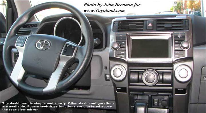 2010 4Runner interior. The 2010 4Runner has a reinforced body-on-frame