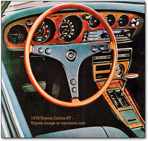inside the 1975 Celica ST
