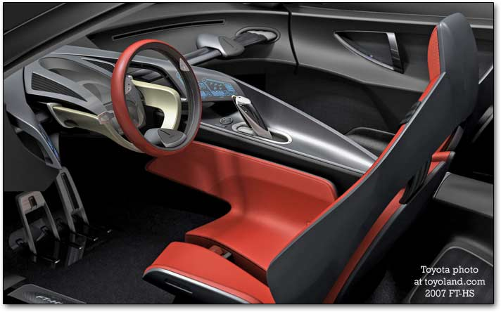 inside the FT-HS 2007 concept cars
