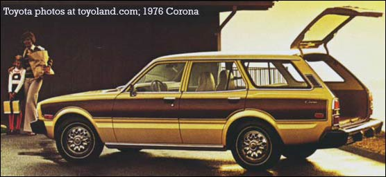 toyota corona wagon with woodgrain