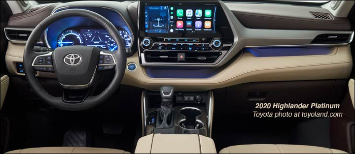 2020 toyota highlander dashboard