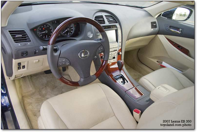 cabin of the Lexus ES 350
