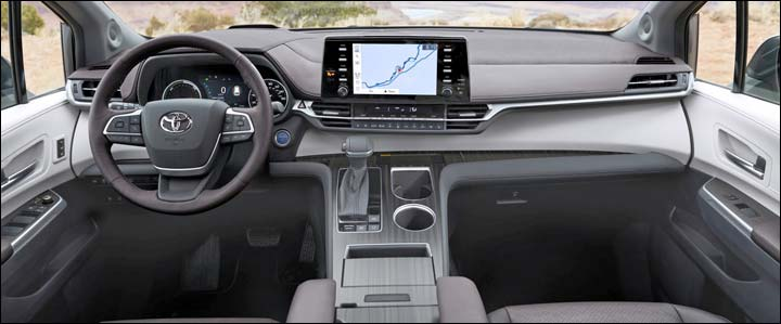 2021 sienna dashboard